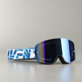 """Raven Edge MX Goggles """"Tsunami"""" Blue Mirror"""