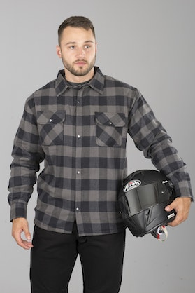Course Aramid Reinforced Flannel Shirt Black-Grey