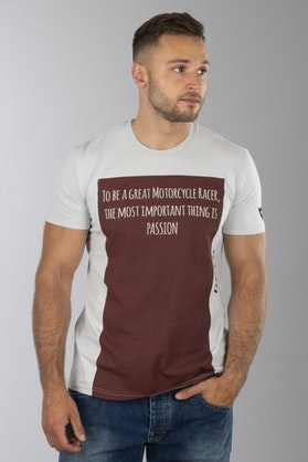 T-Shirt Dainese Racer-Passion Szaro-Czerwony