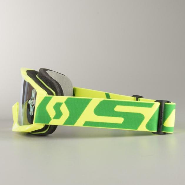 Gogle Cross Scott Hustle Żółto-Zielone