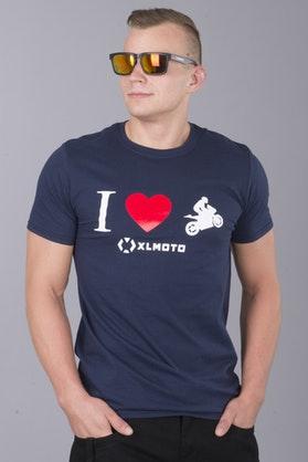 T-Shirt XLMOTO Hearts Niebieski