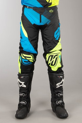 Shot MX Pants Blue-Neon Yellow