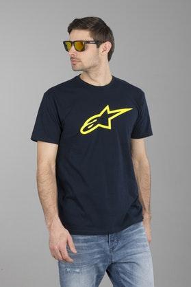 Alpinestars Ageless Classic T-Shirt Navy-HiVis-Yellow
