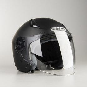 AXO Police Jet Helmet Matte Black