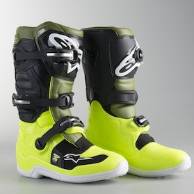 Alpinestars Tech 7 S MX Boots FlouYellow-Green-Black