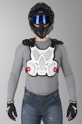 Alpinestars A-1 Roost Chest Protector White-Black-Red