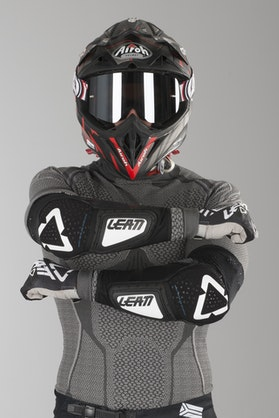 Leatt 3DF Hybrid Elbow Protection White-Black