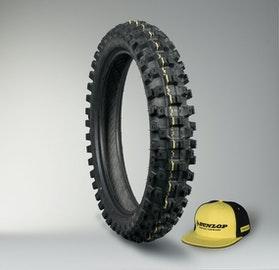 Dunlop Geomax MX51 Tyre + Cap