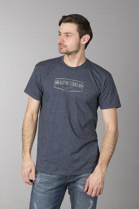 T-Shirt Alpinestars Emblematic Węglowo-Granatowo-Wrzosowy