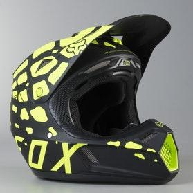 Kask Cross Fox V3 Grav Żółty MX 17