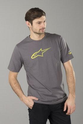 T-Shirt Alpinestars Ageless Tech Szaro-Żółty