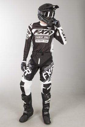 FXR Revo MX Clothes Black-White