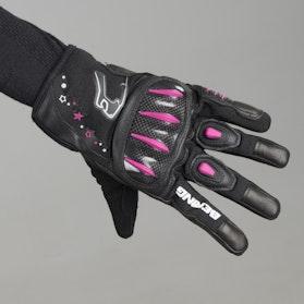 Handsker Bering Cynthia Dame, Sort/Pink