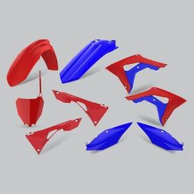 Komplet Plastików Polisport Czerwono-Niebieski