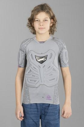 Leatt Padded Youth Baselayer T-Shirt - Grey