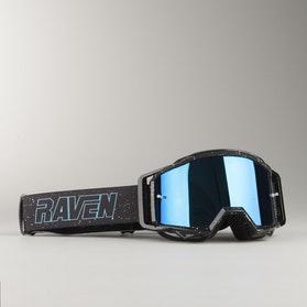 Raven Sniper Deep Space MX Goggles Blue Mirror