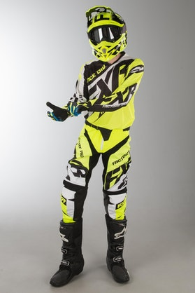 FXR Clutch Prime MX Clothing HiVis-Black-White