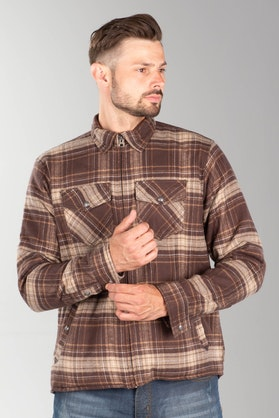 Roland Sands Stoddard Flannel Shirt Brown