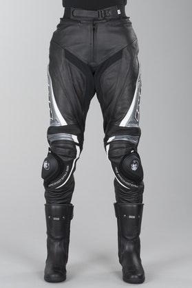 Spodnie skórzane IXS Robin 2 Czarny-Szary-Biały Kobieta