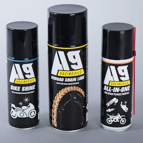 A9 Onroad Chain spray 400ml+ALL-IN-ONE 200ml+Bike Shine 200ml