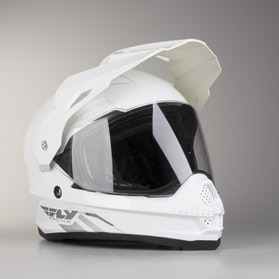 FLY Trekker Adventure Helmet White