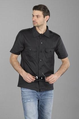 Brandit US Hemd 1/2 Shirt - Black