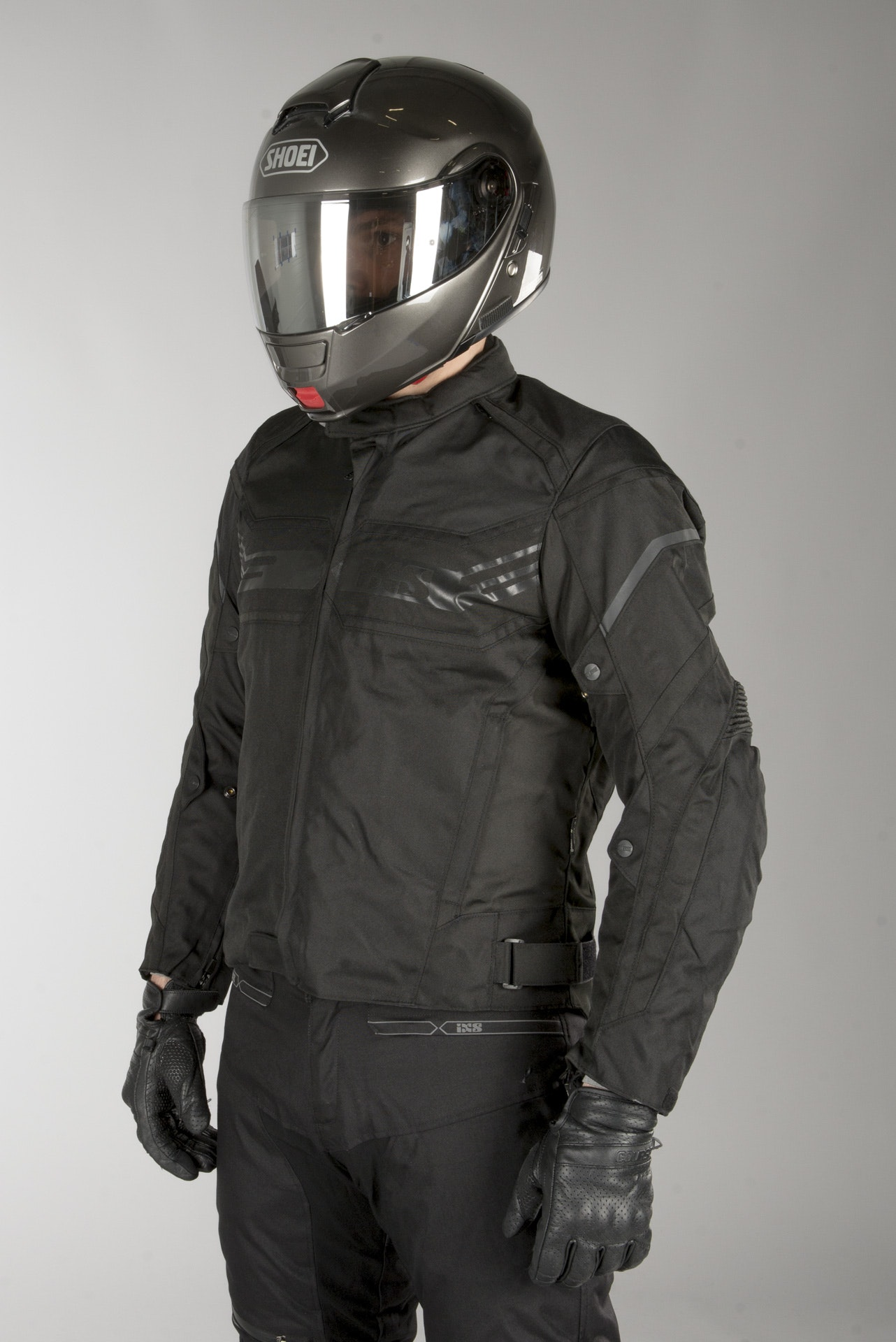 Polyester Herren IXS Motorradjacke mit Protektoren Motorrad Jacke RS-400-ST 2.0 Sport Textiljacke Ganzj/ährig Sportler