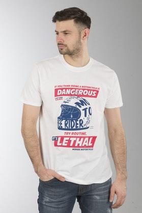 Koszulka  XLMoto Dangerous Biała