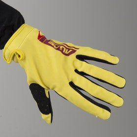 Alias Youth AKA Lite Sidestacked Gloves Yellow-Red