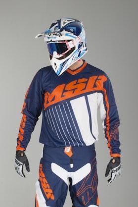 Bluza cross MSR Axxis Morski-Pomarańczowy-Biały