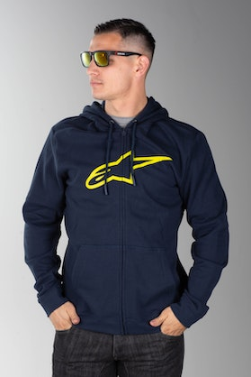 Alpinestars Ageless -- Hoodie Navy-HiVis-Yellow