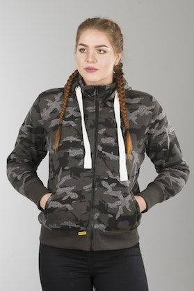 Booster Triple Aramid-reinforced Hoodie Lady Camo Green