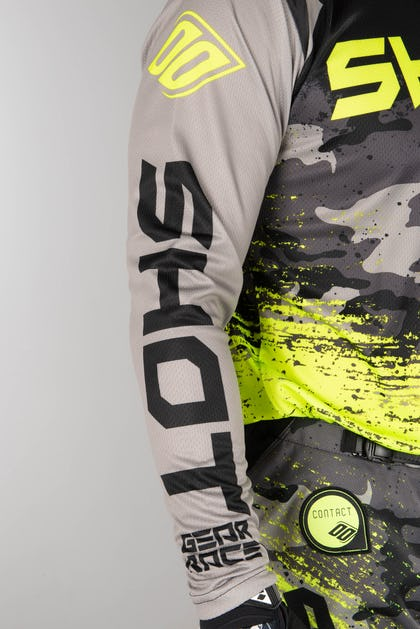 Shot Counter MX Jersey Grey-Neon-Yellow