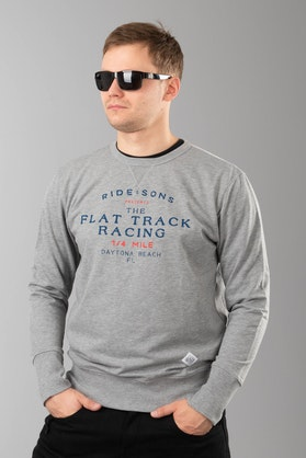 Ride&Sons Flat Track Heather Shirt Grey