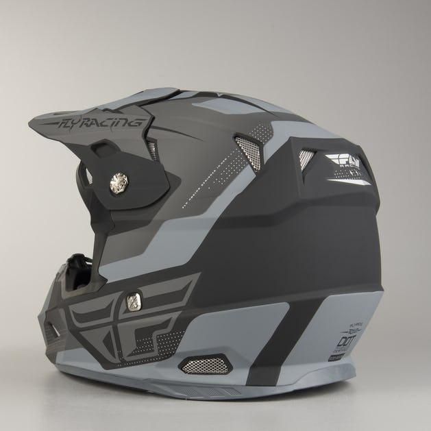 FLY Toxin Cross-Helmet Black-Grey