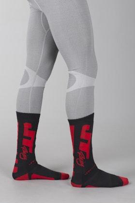 Ponožky JT Racing Coolmax Černá-Červená