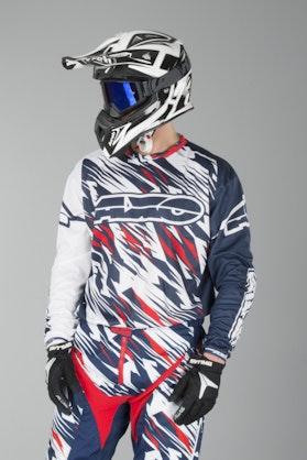 AXO Grunge MX Jersey White & Blue