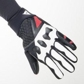 Rękawice Dainese X-Moto Czarno-Biało-Czerwone