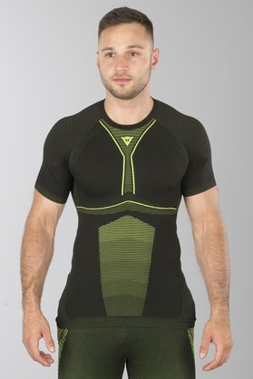 Dainese D-Core Dry SS Tech T-Shirt Black-Yellow