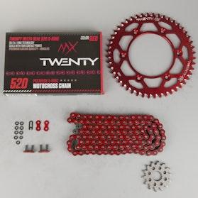 Řetězová Sada MX Twenty Delta 520 X-Ring Červená