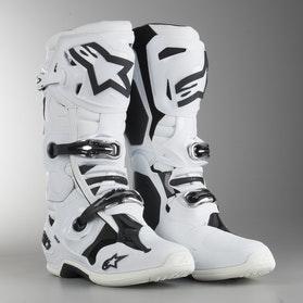 Crossové Boty Alpinestars Tech 10 Bílé