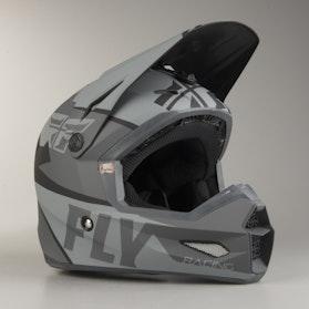 FLY Elite Guild Children's MX Helmet Grey-Black