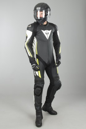 Dainese Assen Perf. Leathers Black-White-Yellow