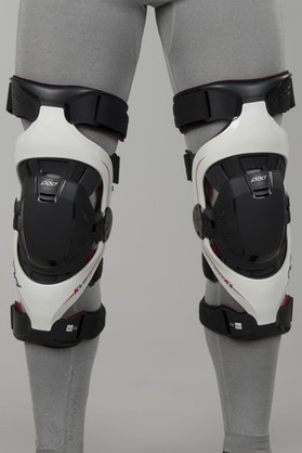 Ochraniacze kolan POD K4 MX Szaro-Czerwony