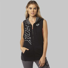 Fox Precised Cut Off Zip Hoodie Black