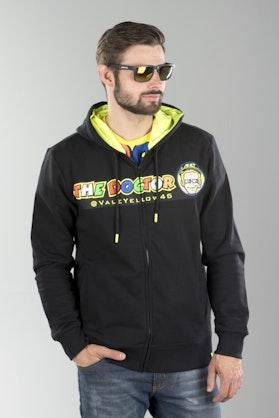 Hættetrøje VR46 Valentino Rossi, Sort