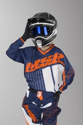 Motokrosový dres MSR Axxis Modrá-Oranžová-Bílá Dětský model