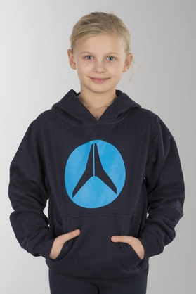 Alias Kid's Circled Classic Navy Hoodie