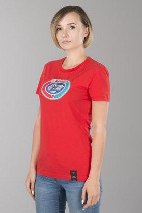 T-Shirt Dainese Moto 72 Damski Czerwony