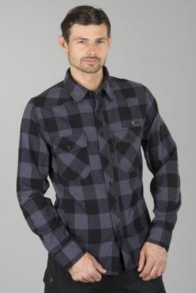 Brandit Checkshirt Shirt - Black-Grey